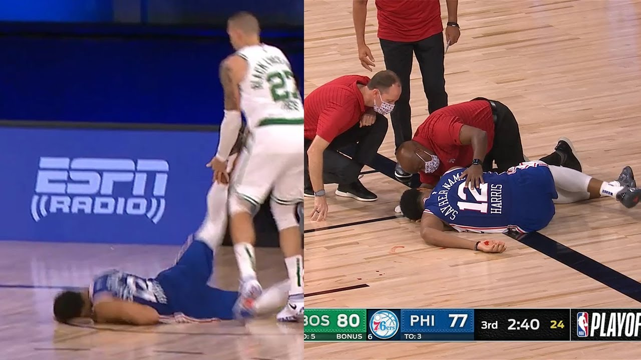 Tobias Harris SCARY Fall | Sixers vs Celtics Game 4