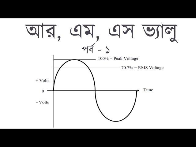 RMS Value Part  - 1 | Root Mean Square Formula । আর,এম,এস ভ্যালু | Voltage Lab