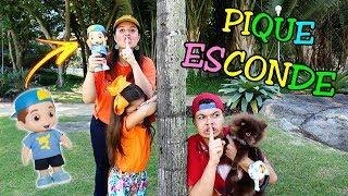 PIQUE ESCONDE NO PARQUE COM O BONECO DO LUCCAS NETO (ESCONDE-ESCONDE) - Anny e Eu