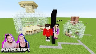 NINAS FLASCHEN HAUS vs KAANS FLASCHEN VILLA! World in a Jar Minecraft Build Battle #KaNiZocken