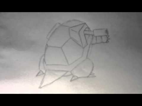 pokemon zeichnen turtok in wenigen schritten youtube. Black Bedroom Furniture Sets. Home Design Ideas
