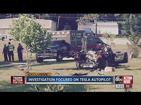Witnesses to aftermath of deadly Tesla say autopilot continued to drive car for hundreds of yards