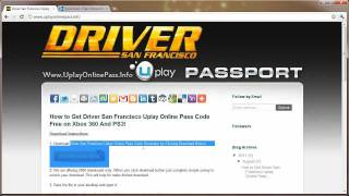 Driver San Francisco Uplay Online Pass Free Giveaway
