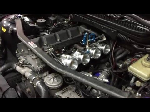 BMW E36 M42 1796cc with RHD Open ITB Kit Running Test!!!!!
