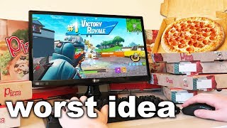 I Ordered A Pizza For Every Elimination in Fortnite