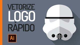 MÉTODO RÁPIDO - Como Vetorizar um logotipo no Illustrator?