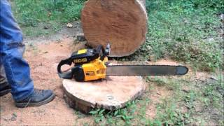 Poulan Pro 455 chainsaw (test cut) with 24