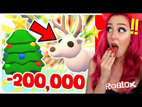 I Spent 200,000 On Christmas Eggs To Get The NEW ARCTIC REINDEER! Roblox Adopt Me Christmas ...