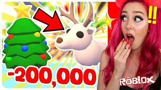 I Spent 200,000 On Christmas Eggs To Get The NEW ARCTIC REINDEER! Roblox Adopt Me Christmas Update