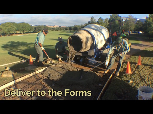 Four Seasons Golf Path Concrete Mixer