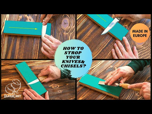 Using a Leather Stop on Knives & Chisels I Easy Wood Carving for Beginners