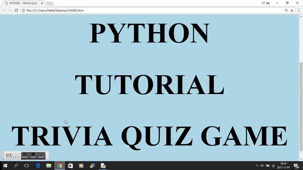 PYTHON - TRIVIA QUIZ GAME