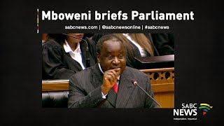 Mboweni briefs joint committees of parliament, 31 October 2019