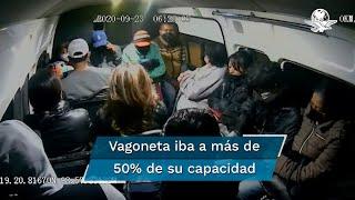 Los hechos ocurrieron a las 6:26 de la mañana del pasado miércoles en una vagoneta en la que iban más de 15 personas, aun cuando la Secretaría de Movilidad mexiquense determinó que para evitar contagios de Covid-19 las unidades concesionadas deberán ofrecer el servicio al 50% de su capacidad