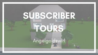 Roblox - Bloxburg Subscriber Tours: Angelgoldswirl's House