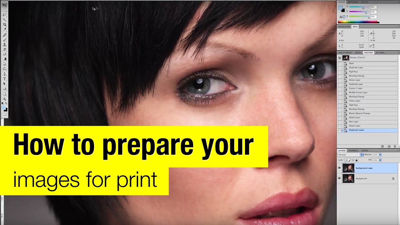 How to prepare your images for print