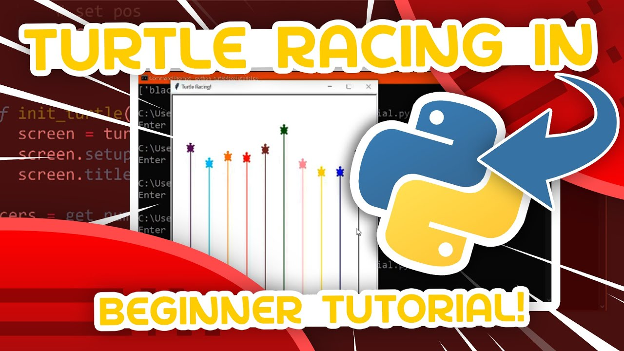 Python Beginner Project Tutorial - Turtle Racing!