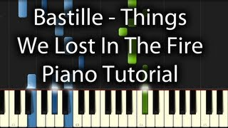 Bastille - Things We Lost in the Fire Tutorial (How To Play On Piano)