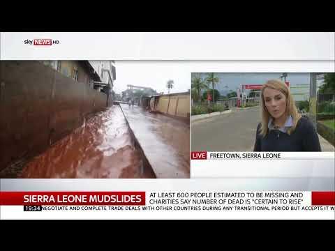 Sierra Leone mudslides - 400 bodies found - Rebecca Williams reports