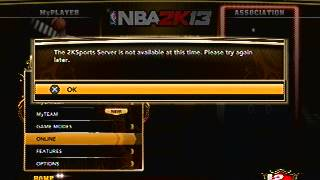 2K13 Servers Temporarily Unavailable
