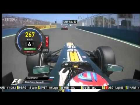 Формула 1  ГП Европы 2012  Виталий Петров и Фелиппе Масса