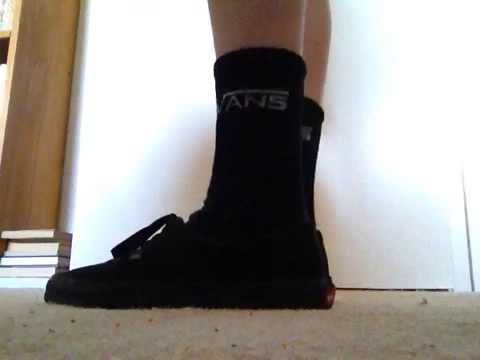 cdad6aba8c94 Vans all black on feet - YouTube