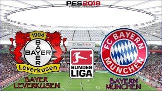 PES 2018 - Bayer Leverkusen x Bayern de Munique | Bundesliga | Gameplay. PS4