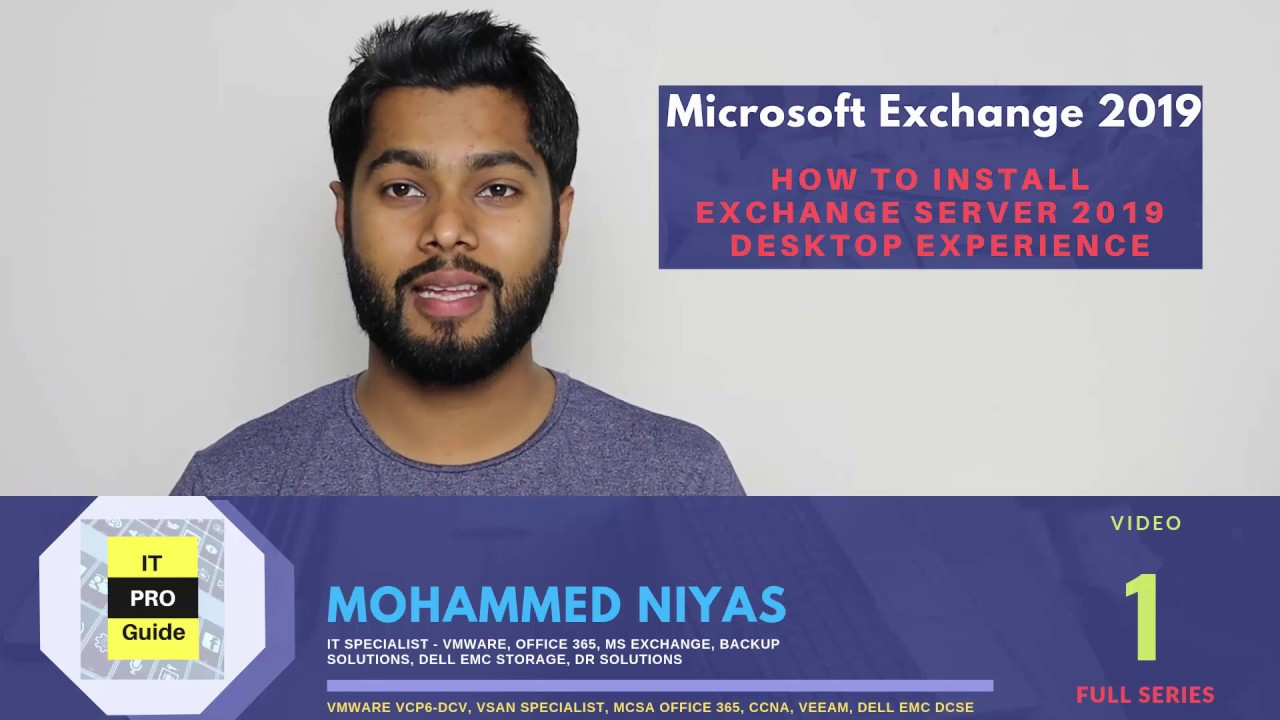 How to install Microsoft Exchange Server 2019   Step by Step   Video 1