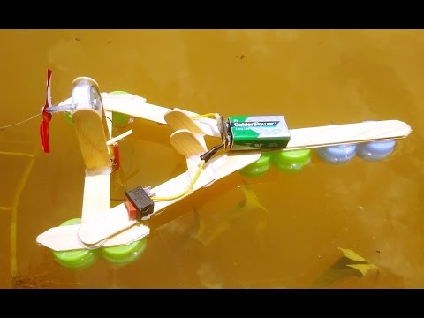 How To Make a Electric Motor Boat - Toy Motor Boat DIY - YouTube