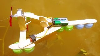 How to make a electric motor boat - toy motor boat diy
