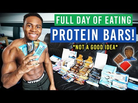 ONLY Eating Protein Bars For 24 HOURS! *my body before & after*