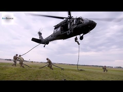 Army National Guard Fast-Rope Insertion/Extraction System Exercise