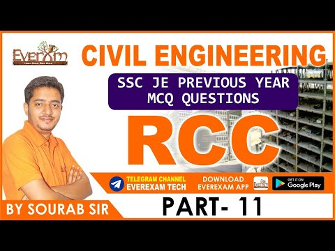 RCC PART 11 CIVIL ENGINEERING SSC JE PRE  YEAR MCQ QUESTIONS|SSC JE|RAILWAY| STATE EXAM