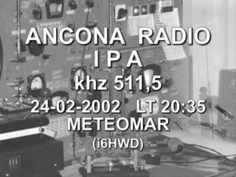 STAZIONE RADIOTELEGRAFICA  DI ANCONA RADIO  24 Febb. 2002 - METEOMAR