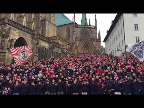 Thüringen-Derby: Erfurt-Fans versammeln sich auf Domstufen