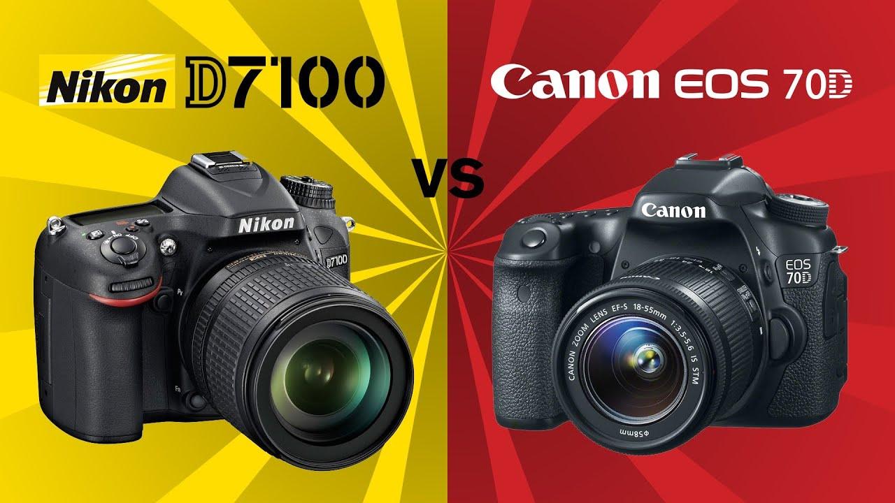 Canon 70D vs Nikon D7100