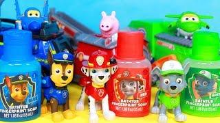 Patrulha Canina Peppa Pig Super Wings Brinquedos Banho de Tintas Cores Ingles Banheira Colors