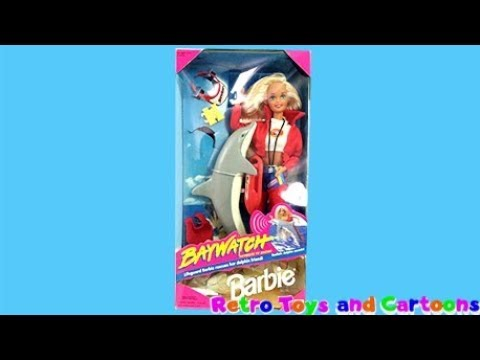 Barbie Baywatch Barbie Doll with Dolphin & Accessories Mattel Commercial Retro Toys and Cartoons