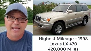 Cars That Last 300,000 Miles - Toyota Land Cruiser and Lexus LX 450/470