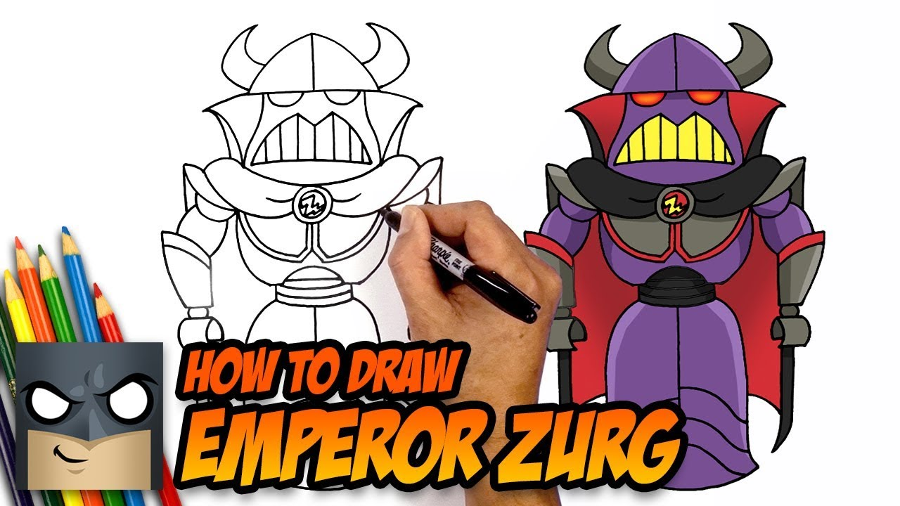 How to Draw Toy Story   Emperor Zurg   Step by Step