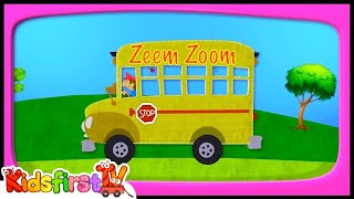 SCHOOL Bus : Crane : Dump Truck! - Zeem Zoom Cartoons for Children
