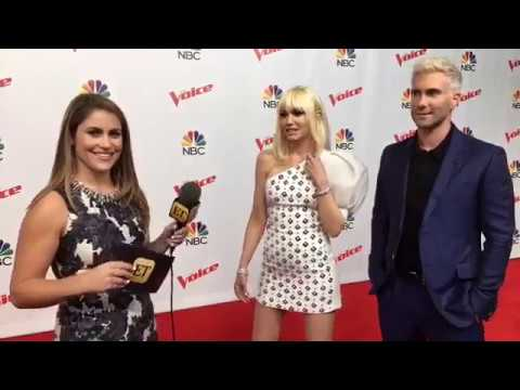 The Voice Coaches on the Live Playoffs Red Carpet, April 18, 2017