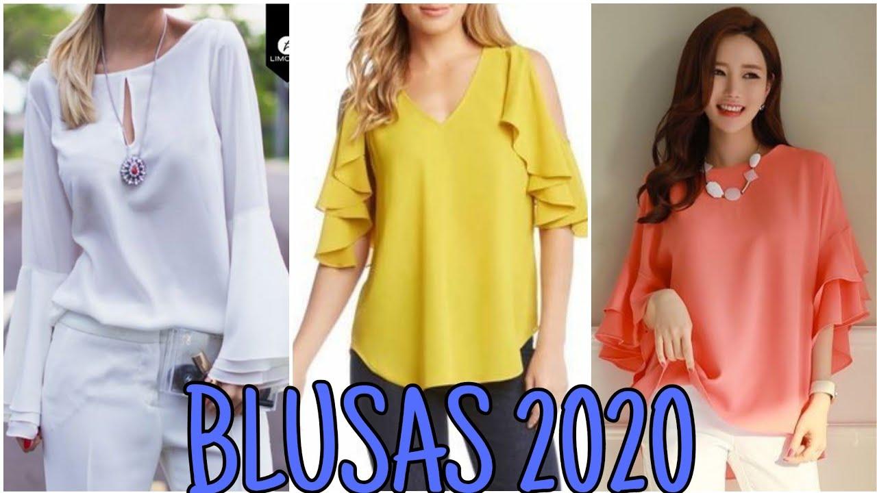 Blusas 2020/Blusas Sencillas y bonitas / Diferentes Blusas en Moda y Tendencia 2020