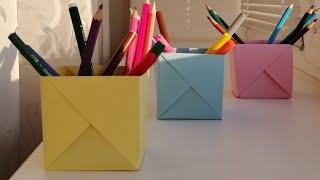 як зробити з паперу підставку для олівців