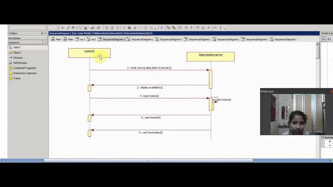 hight resolution of ex3 sequence diagram for bus reservation system