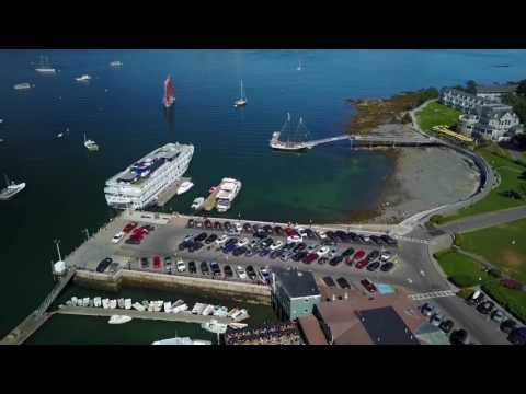 Bar Harbor, Maine (Arial Drone Video)