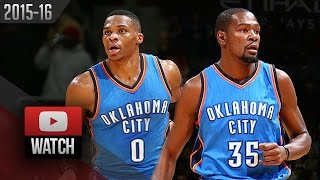 Russell Westbrook & Kevin Durant Full Highlights at Wizards (2015.11.10) - TOO GOOD!