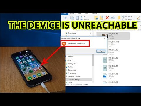 Device is Unreachable iPhone 6,7,8 plus \u0026 iPhone X Windows 10 Fixed