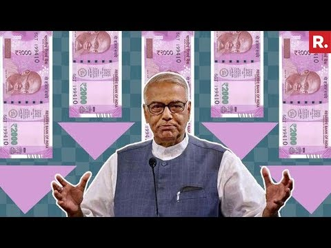 Former Finance Minister Yashwant Sinha Triggers Economic War - Full Interview
