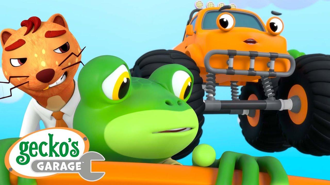 Monster Truck Can Fly! | Gecko's Garage | Trucks For Children | Cartoons For Kids